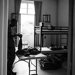 mercredi 3 aout 2016, 16h15, Ivry-sur-Seine. Les militaires du 28ème Régiment de Transmissions s'installent dans leurs chambres collectives au fort d'Ivry.