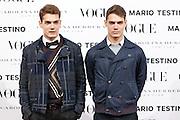 Raul Guerra and Hayden Guerra at Vogue December Issue Mario Testino Party