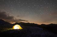 Wildcamping with Vango F10 Argon 200 tent under the stars at Hardknott