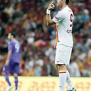 Galatasaray's Johan Elmander during their Friendly soccer match Galatasaray between SS Lazio at the Ataturk stadium in izmir Turkey on Saturday 04 August 2012. Photo by TURKPIX