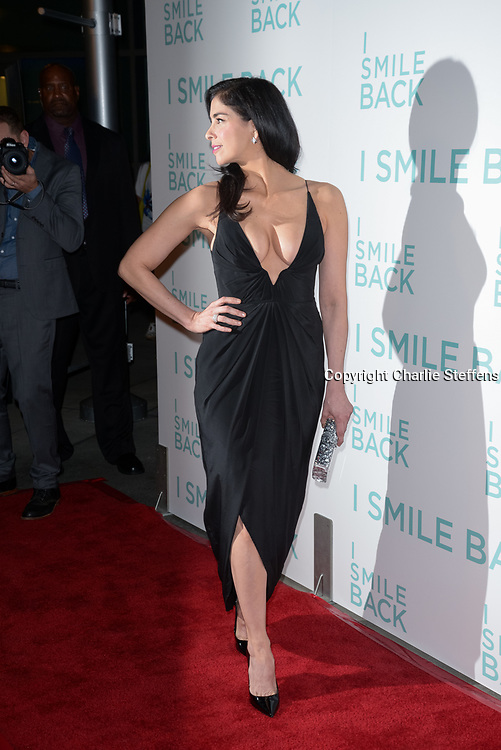 SARAH SILVERMAN attends the premiere of Broad Green Pictures' 'I Smile Back' at ArcLight Cinemas in Hollywood, California