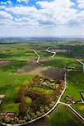 Nederland, Zeeland, Walcheren, 09-05-2013; Tuin van Walcheren, westelijk deel van het eiland, zwaar beschadigd tijdens de Tweede Wereldoorlog. Na de oorlog hersteld, oorspronkelijke zeer kleinschalige landschap is op ruimere grondslag gereconstrueerd. <br /> <br /> QQQ<br /> luchtfoto (toeslag op standard tarieven)<br /> aerial photo (additional fee required)<br /> copyright foto/photo Siebe Swart
