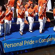 NLD/Amsterdam/20070804 - Gaypride Canalparade 2007, boot van de ING bank
