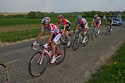 17-04-2011 WIELRENNEN: AMSTEL GOLD RACE: VALKENBURG<br /> (vlnr) Joaquim Rodriguez ESP die tweede werd, Ben Hermans BEL, Jelle Vanendert BEL, Robert Gesink<br /> ©2011-WWW.FOTOHOOGENDOORN.NL / Peter Schalk
