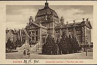 Zagreb : Umjetnički paviljon - Pavillion des Arts. <br /> <br /> ImpresumZagreb : Elmira König Ausgabe, [1914].<br /> Materijalni opis1 razglednica : tisak ; 9 x 14 cm.<br /> NakladnikElmira König Ausgabe<br /> Mjesto izdavanjaZagreb<br /> Vrstavizualna građa • razglednice<br /> ZbirkaGrafička zbirka NSK • Zbirka razglednica<br /> Formatimage/jpeg<br /> PredmetZagreb –– Trg kralja Tomislava<br /> Umjetnički paviljon (Zagreb)<br /> SignaturaRZG-TOM-23<br /> Obuhvat(vremenski)20. stoljeće<br /> NapomenaRazglednica je putovala 1910. godine.<br /> PravaJavno dobro<br /> Identifikatori000952759<br /> NBN.HRNBN: urn:nbn:hr:238:595177 <br /> <br /> Izvor: Digitalne zbirke Nacionalne i sveučilišne knjižnice u Zagrebu