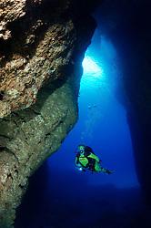 Comino Caves, Santa Marija Caves, Santa Maria Hoehlen, Gozo, Comino,  Malta, Sued Europa, Mittelmeer, Mare Mediterraneum, South Europe, Mediterranean Sea