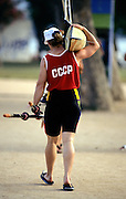 Barcelona Olympics 1992 - Lake Banyoles, SPAIN,  CCCP W1X Photo: Peter Spurrier/Intersport Images.  Mob +44 7973 819 551/email images@intersport-images.com.       {Mandatory Credit: © Peter Spurrier/Intersport Images]