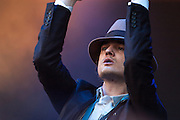 Babyshambles performing at the Benicasim festival in 2008