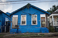 Katrina damaged home in mid city left in ruins, nearly 10 years post Katirna