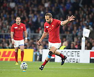Frederic Michalak (France's fly half)  missing France's first penalty during the Rugby World Cup Pool D match between France and Italy at Twickenham, Richmond, United Kingdom on 19 September 2015. Photo by Matthew Redman.
