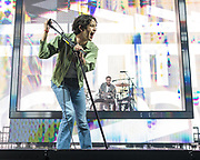 WASHINGTON, DC - May 21st, 2019 - Matt Healy and George Daniel of The 1975 perform at The Anthem in Washington, D.C. The band's third studio album, A Brief Inquiry into Online Relationships, was released late last year and  reached number one in the UK and number four in the US.  (Photo by Kyle Gustafson / For The Washington Post)