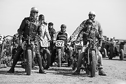 Matt Thenen, Rick Petko and Warren Heir Jr ready to race at the Race of Gentlemen. Wildwood, NJ, USA. October 10, 2015.  Photography ©2015 Michael Lichter.