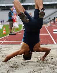 Denmark's Massin Ait Bouziad in the triple jump at the Aarhus Nordic Challenge 2016 at Ceres Park, Aarhus, Denmark, 25.6.2016. (Allan Jensen/EVENTMEDIA).