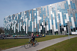 Exterior of modern Dr AA Heimans van den Bergh-building at Utrecht University in The Netherlands; architect Erick van Egeraat