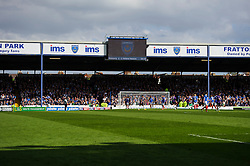Bristol Rovers fans look dejected a Portsmouth score a second - Photo mandatory by-line: Rogan Thomson/JMP - 07966 386802 - 19/04/2014 - SPORT - FOOTBALL - Fratton Park, Portsmouth - Portsmouth FC v Bristol Rovers - Sky Bet Football League 2.