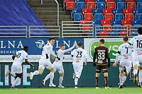 Fotball , Eliteserien<br /> 28.12.2020 , 20201228<br /> Mjøndalen - Sogndal<br /> Sogndals Tomas Kristoffersen jubler for sitt mål til 1-2 <br /> Foto: Sjur Stølen / Digitalsport