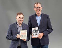 "Edinburgh, Scotland, UK; 17 August, 2018. Pictured; Yascha Mounk (L) and David Runciman whose new books   ""The People vs Democracy"" and  "" How Democracy Ends"" are studies of contemporary democracy."
