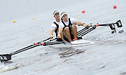 Poznan, POLAND,  EST M2X, Bow, Rob WADDELL and Nathan COHEN, move away from the start in their morning heat, at the 2008 FISA World Cup. Rowing Regatta. Malta Rowing Course on Friday, 20/06/2008. [Mandatory Credit:  Peter SPURRIER / Intersport Images] Rowing Course:Malta Rowing Course, Poznan, POLAND