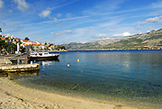 Korcula town beach, island of Korcula, Croatia