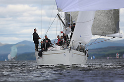 The Silvers Marine Scottish Series 2014, organised by the  Clyde Cruising Club,  celebrates it's 40th anniversary.<br /> Day 1<br /> GBR7745R, Eala of Rhu, J McGarry / C Moore, RNCYC, Swan 45.<br /> <br /> Racing on Loch Fyne from 23rd-26th May 2014<br /> <br /> Credit : Marc Turner / PFM
