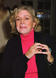 Writer MRS SHIRLEY CONRAN at a luncheon in London on 12th October 1998.<br /> MKR 1