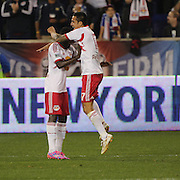 Tim Cahill, New York Red Bulls, celebrates after scoring his sides fourth goal during the New York Red Bulls Vs Seattle Sounders, Major League Soccer regular season match at Red Bull Arena, Harrison, New Jersey. USA. 20th September 2014. Photo Tim Clayton