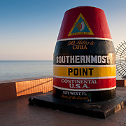 Key West marker - southernmost point of the continental USA