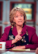 Author Doris Kearns Goodwin discusses the upcoming impeachment hearings against President Clinton during NBC's Meet the Press October 11, 1998 in Washington, DC.
