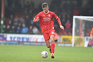 Swindon Town midfielder Ellis Landolo (3) sprints forward with the ball  during the The FA Cup 2nd round match between Swindon Town and Woking at the County Ground, Swindon, England on 2 December 2018.