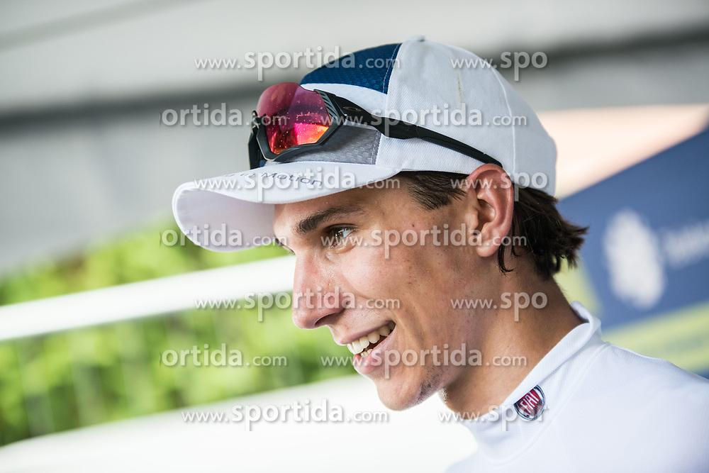 Aljaz Jarc (SLO) of KK Adria Mobil celebrates during 1st Stage of 26th Tour of Slovenia 2019 cycling race between Ljubljana and Rogaska Slatina (171 km), on June 19, 2019 in Slovenia. Photo by Peter Podobnik/ Sportida
