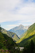 Austria, Zillertal High Alpine nature Park Hochgebirgs Naturpark Schlegeis dam and reservoir