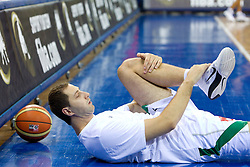 Hasan Rizvic of Slovenia prior to the Preliminary Round - Group B basketball match between National teams of USA and Slovenia at 2010 FIBA World Championships on August 29, 2010 at Abdi Ipekci Arena in Istanbul, Turkey.  (Photo by Vid Ponikvar / Sportida)
