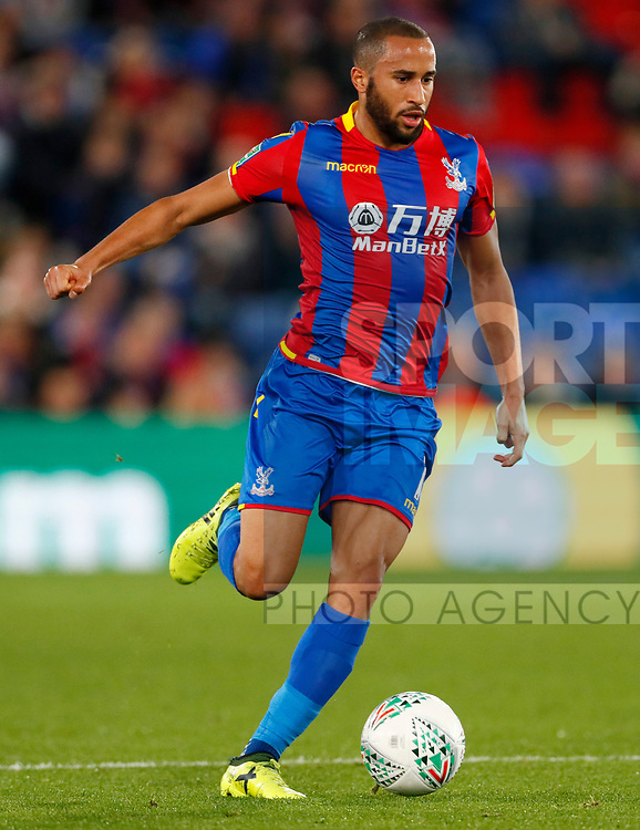 Crystal Palace's Andros Townsend in action during the Carabao cup match at Selhurst Park Stadium, London. Picture date 19th September 2017. Picture credit should read: David Klein/Sportimage