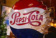 Pepsi Cola sign American History Photographed in Nashville TN, USA