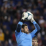 Goalkeeper Tally Hall, Houston Dynamo,  in action during the New York Red Bulls V Houston Dynamo , Major League Soccer second leg of the Eastern Conference Semifinals match at Red Bull Arena, Harrison, New Jersey. USA. 6th November 2013. Photo Tim Clayton