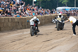 Daniel Sladovnik (996) 1948 Harley-Davidson WL Flathead at the Bradford Beach Brawl, a TROG style beach racing event, during the Harley-Davidson 115th Anniversary Celebration event. Milwaukee, WI. USA. Saturday September 1, 2018. Photography ©2018 Michael Lichter.
