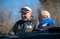 Wyoming Game and Fish Chief of Fisheries Alan Osterland chats with other attendees of a wildlife tour with Game and Fish commissioners and other state wildlife stakeholders April 19 in Grand Teton National Park.