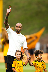 Former Wolverhampton Wanderers Goalkeeper Carl Ikeme waves to fans with his children after his fight with Acute Leukaemia - Mandatory by-line: Robbie Stephenson/JMP - 25/08/2018 - FOOTBALL - Molineux - Wolverhampton, England - Wolverhampton Wanderers v Manchester City - Premier League