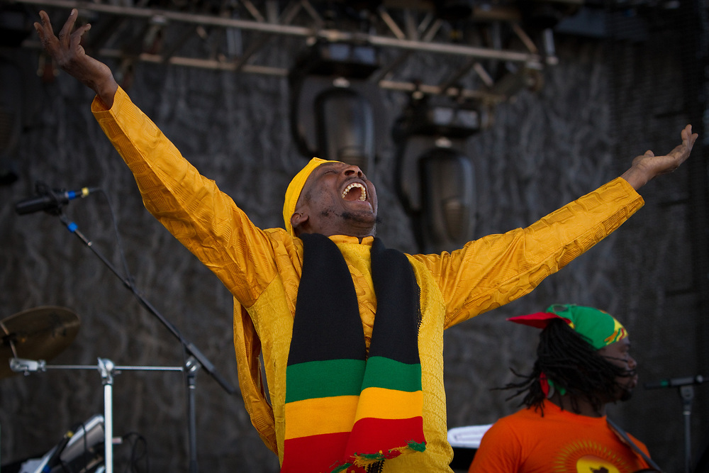 Reggae legend and Rock and Roll Hall of Fame inductee JIMMY CLIFF performs at the Mile High Music Festival.