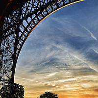 Eiffel Tower under the Paris sunset