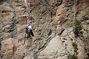 Austria, Tyrol, Landeck District, Kaunertal valley, Cliff climbing