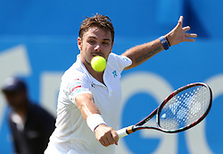 Switzerland's Stan Wawrinka during his match against Spain's Feliciano Lopez during day two of the 2017 AEGON Championships at The Queen's Club, London.