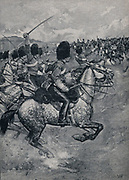 Crimean War 1853-1856:  Battle of Balaclava, 25 October 1854 - the charge of the British Heavy Brigade )grreys and Enniskillens.