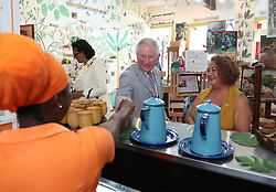 The Prince of Wales visits the House of Chocolate during a one day visit to the Caribbean island of Grenada.