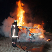 Autobrand parkeerplaats Merk Huizen