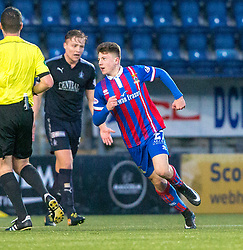 Inverness Caledonian Thistle's Daniel MacKay cele scoring their goal. Falkirk 3 v 1 Inverness Caledonian Thistle, Scottish Championship game played 27/1/2018 at The Falkirk Stadium.