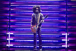 July 4, 2018 - Madrid, Madrid, Spain - Lenny Kravitz performs live on stage at WiZink Center on July 4, 2018 in Madrid (Credit Image: © Jack Abuin via ZUMA Wire)