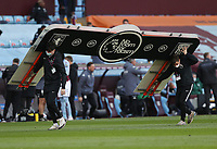 Football - 2020 / 2021 Premier League - Aston Villa vs West Bromwich Albion - Villa Park<br /> <br /> A No Room for Racism banner is removed from the pitch