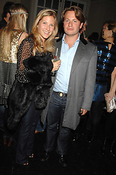 GEORGE BAMFORD and LEONORA PEARL at a leaving party for Poppy Delevigne who is going to New York to persue a career as an actress, held at Chloe, Cromwell Road, London on 25th January 2007.<br />