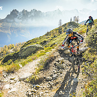 DMR bikes print advert 2015. Riders Olly Wilkins & Christian Fairclough.